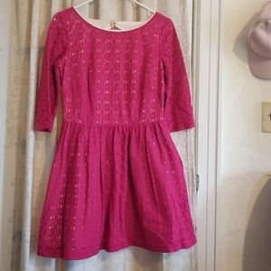 Lilly Pulitzer Dresses - Lilly Pulitzer magenta pink lace dress